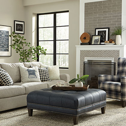 Contemporary Living Room Set Ottomans Sofas And Accent Chairs Vander