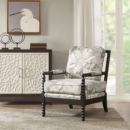 Fl Patterned Accent Chair