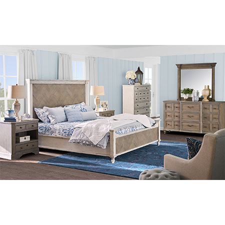 Legends Queen Parquet Panel Bedroom Set